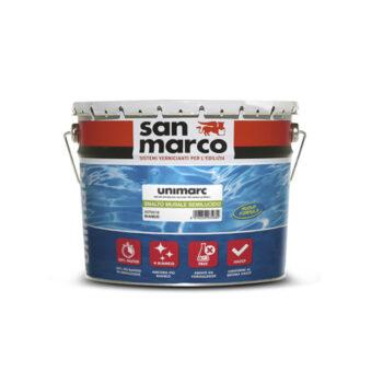 UNIMARC SMALTO MURALE LUCIDO – Finisaj diluabil in apă, inodor, transparent cu conţiunut scazut de V.O.C. pentru suprafețe mari in spații publice si in sectorul alimentar