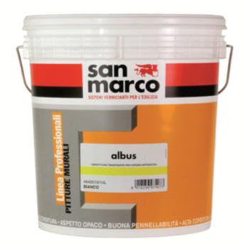 ALBUS – Vopsea transpirantă diluabilă cu apă, permeabilă pentru interioare, anti-picatură – punct de alb ridicat