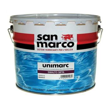 UNIMARC SMALTO SETA – Protector acrilic inodor diluabil în apă satinat pentru exterior şi interior
