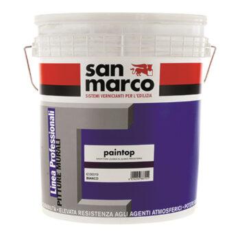 PAINTOP ANTIALGA – Vopsea lavabilă diluabilă în apă pe bază de cuarţ pentru exterior antimucegai-antialege