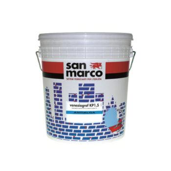 VENEZIAGRAF KP1,5 ANTIALGA – Tencuială decorativă de exterior efect compact, antimucegai, antialge, granulatie 1,5 (înveliş mural efect compact asperitate 1,2)
