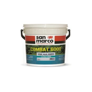 COMBAT 6000 – Vopsea lavabilă pe bază de apă, igienizantă, anti mucegai, opacă, uniformizantă pentru interioare – uscare rapidă