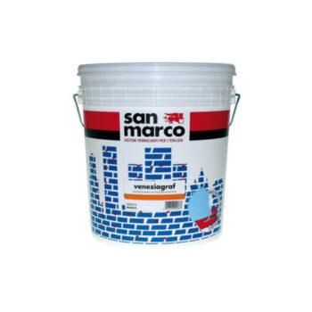 VENEZIAGRAF ANTIALGA – Tencuială decorativă de exterior, antimucegai, antialge granulaţie 1,2 (înveliş mural efect spatulat asperitate 1,2)